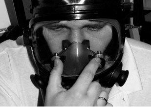 Teste de funcionalidade dos clipes de nariz.