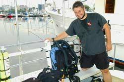 Bruno Fagundes e seu rebreather