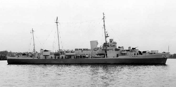 Navio Duane durante a Segunda Guerra Mundial